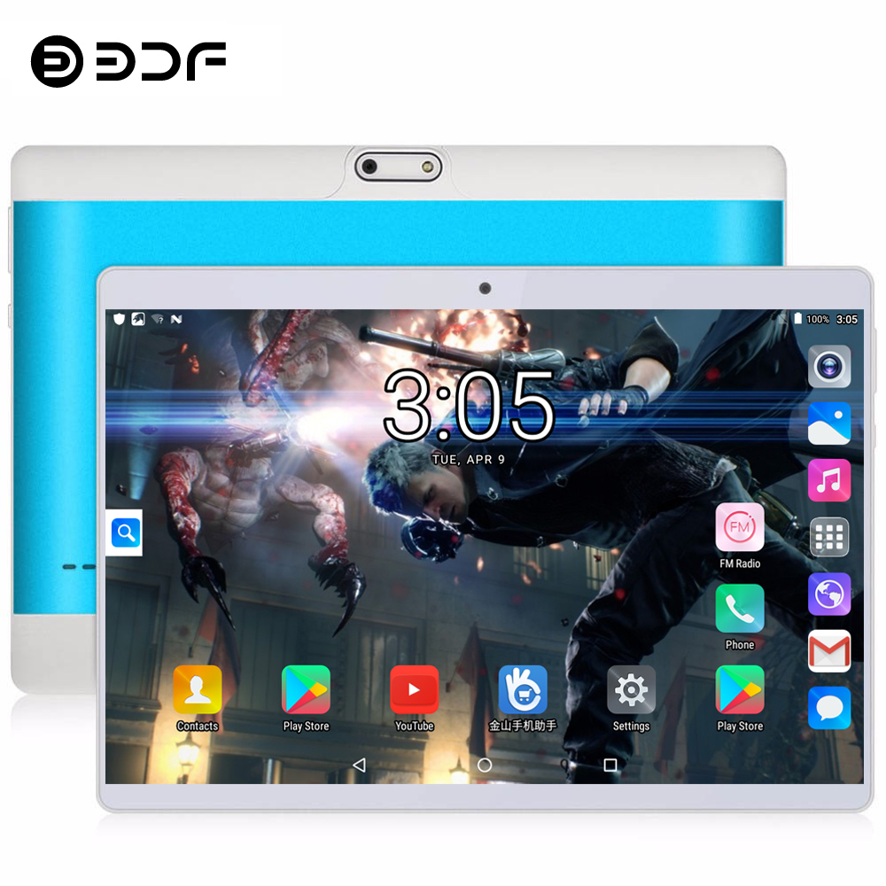 BDF 10 Inch Tablet Pc Octa Core 3G 4G LTE Tablets Android 8.1 RAM 4GB ROM 64GB 1280*800 IPS Dual SIM Tablets 10.1 Inch Tablet Pc