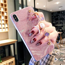 Glitter Rhinestone Bracelet Case For Vivo V7 Y75 Y97 Y93 Y93S Y91 Y95 Y79 Y75s Y69 Y67 Y66 V9 Y85 V11 V15 Plus Pro Covers