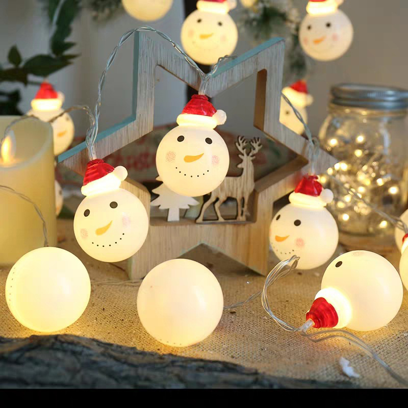2M 3M Snowman Led Fairy String Lights Santa Led Christmas Light Home Garden Indoor Party Wedding Christmas Decoration Light