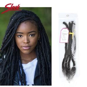 Image 1 - Sleek DreadLock Mongolian Hair Extension Crochet Braids 12 20 Inches 20 strands/lot 100% Remy Human Brading Hair Bundles