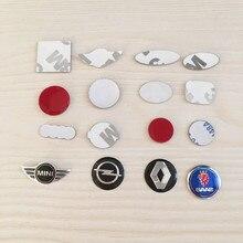 10 шт. 11 мм 14 мм 16 мм 21 мм все логотипы Черный Синий Красный Белый Пульт дистанционного управления Брелок эмблема значок Логотип Наклейка