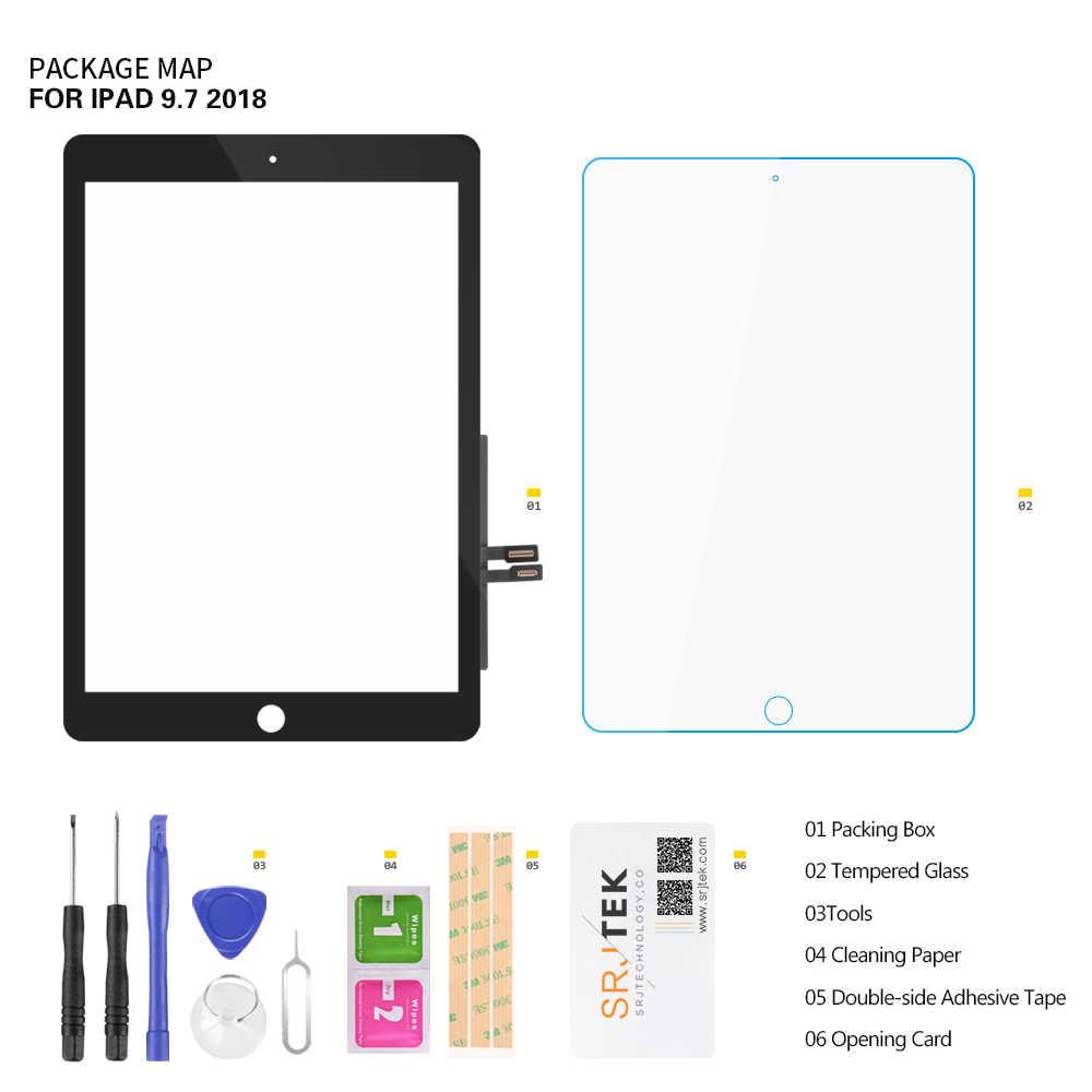 لباد 2018 لمس محول الأرقام لباد 6 باد 9.7 2018 شاشة تعمل باللمس لوحة زجاجية استبدال الاستشعار A1893 A1954