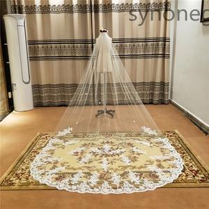 Image 1 - Véu de noiva branco marfim véus de casamento com pente novos acessórios de noiva