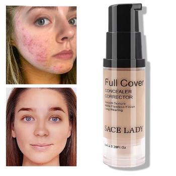 SACE LADY pełna pokrywa ciecz korektor makijaż naturalny bazy wady pokrycie wodoodporny tanie i dobre opinie Love·Thanks