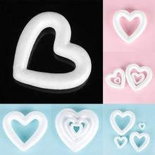 Свадьба День святого Валентина пенопластовый шар белый полый орнамент с сердечками ремесла в форме сердца для DIY украшения для рождественской вечеринки
