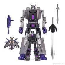 Dx9 transformação d14 D 14 motormaster menasor capone attila com reboque figura de ação robô coleção brinquedos