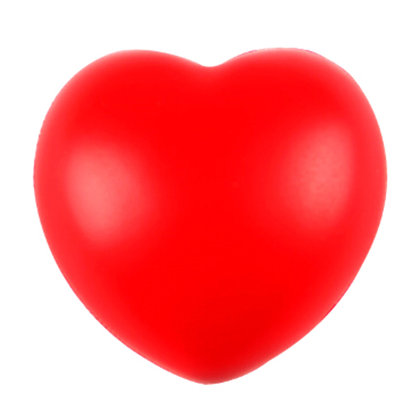 1Pcs Funny Squeeze Heart Shaped Ball Soft Foam Anti Stress Ball Toys Stress Pressure Relief Relax Novelty Fun Gifts Vent Gag Toy