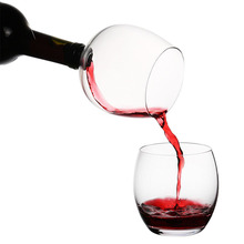 Creative Red Wine Champagne Glass Cup with Silicone Seal Drink Directly from Bottle Crystal Glasses Cocktail Mug 500ML