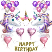 Unicorn Party Balloon Decoration Birthday Baby Shower Happy Wedding Ballon
