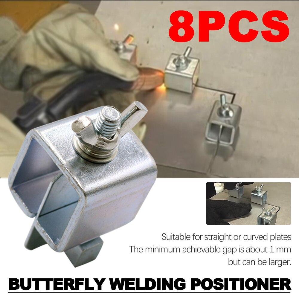 Abrazadera de mariposa para soldar soporte de abrazadera de soldadura a tope accesorio de posicionador de soldadura ajustable para abrazaderas de soldadura conjunto de herramientas