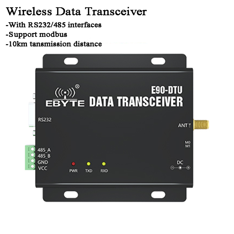 10km 433MHz RS485 RS232 Wireless Data Transceiver RF Module Remote Control Relay Modbus RSSI SX1262 LoRa Environment Monitor