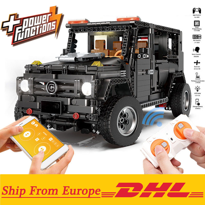 New APP RC G-Glass G500 AWD Wagon SUV Vehicle Fit Technic MOC 2425 Motor Power Function Building Blocks Bricks Toy Kid Birthday