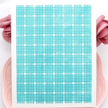Gingham Background Clear Silicone Stamps for Scrapbooking