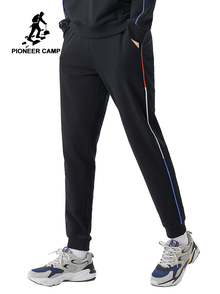 Pioneer Camp 2020 New Men's Sweatshirts Black Streetwear Outwear Hip Pop Fashion Mens Trousers AZZ0102019