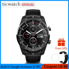 Ticwatch Pro Bluetooth Smart Watch in IP68 Impermeabile supporto NFC Pagamenti/Google Assistente di Usura OS da Google Sport Intelligente Orologio(China)
