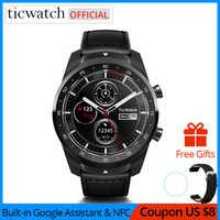 Ticwatch Pro Bluetooth reloj inteligente IP68 impermeable apoyo pagos NFC/Asistente de Google llevar OS Google deportes reloj inteligente