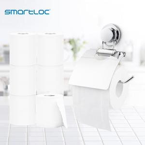 Image 4 - smartloc Stainless Steel Suction Cup Wall Mounted Paper Holder Rack WC Toilet Tissue Storage Shelf Bathroom Accessories