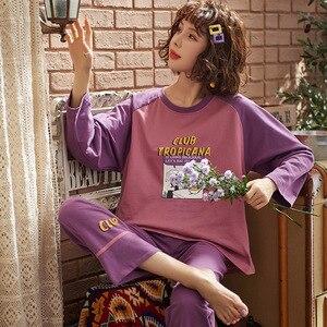 Image 5 - Lorraine Fernandaผ้าฝ้ายผู้หญิงชุดผู้หญิงพิมพ์ชุดนอนแขนยาวชุดนอนสูทชุดนอนสตรีชุดเซ็กซี่Homewear