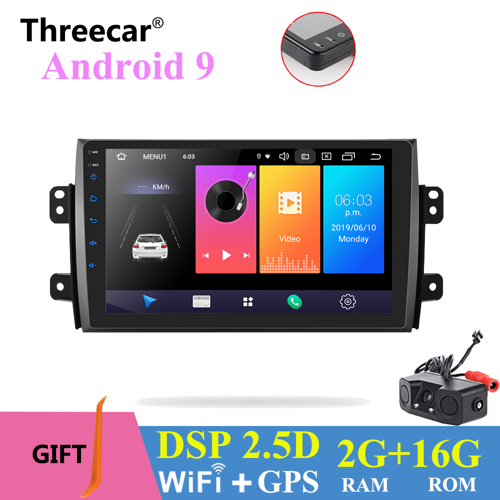 9'' Android 9.0 2 din android car radio DSP 2.5D IPS Screen GPS NAVIGATION WIFI For SUZUKI SX4 Multimedia Bluetooth Player