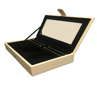 Leather Pandora Packaging Box Stacking Tray With Mirror Fine Jewellery Cases Displays for Women Charms Bracelets Rings Earrings