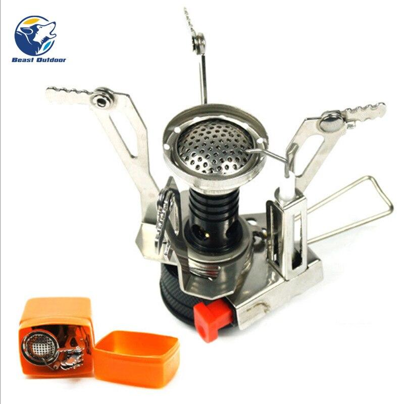 Cooking Burner Titanium Alloy Gas Stove Mini Foldable Outdoor Practical