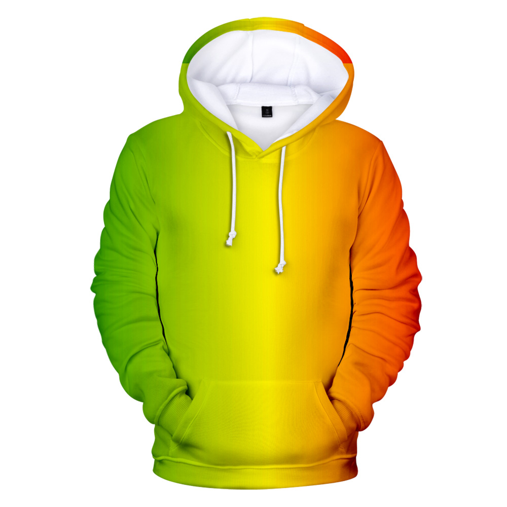 Colourful Yellow Green Mens Hoodie Sweater