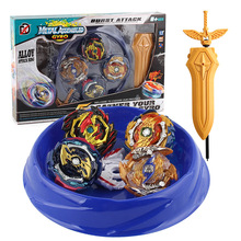 Gyro-Set Spinner Blade-Assembly Launcher Burst Battle Byebleyd with Bey Deluxe Plate-Sword