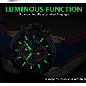 Image 3 - Men Silicone Watch Fashion Sport Quartz Clock Mens Watches Top Brand Business Waterproof Chronograph Watch Relogio Masculino