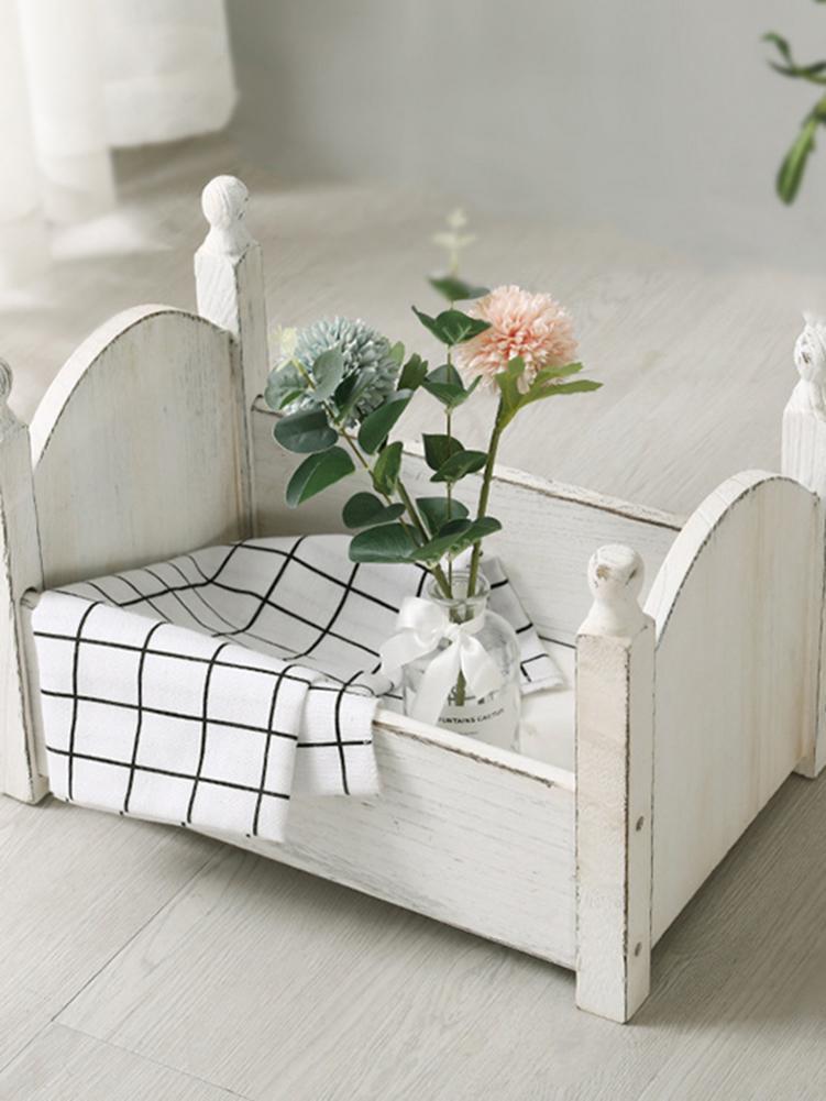 Newborn Photography Props Baby Posing Bed Mini Cute Wood Cribs Fotografia Accessorio Infant Studio Shoot Photo Props