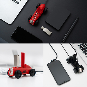 Image 5 - Youpin Bcase בציר רכב עיצוב USB 2.0 Hub ספליטר Expander מתאם 4 יציאות Hab עבור טלפון/U דיסק/אלחוטי עכבר/USB טעינה