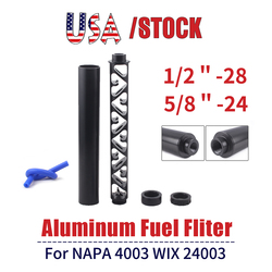6 Inch 10 inch NEW Spiral 1/2-28 5/8-24 Single Core Car Fuel Filter for NAPA 4003 WIX 24003 Fuel Trap Solvent Filters RS-OFI044