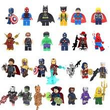 Железный человек, Бэтмен, одиночная распродажа, Мстители, супергерой, совместимые с Legoingly фигурки, строительные блоки, набор кирпичей, модель, игрушки для детей