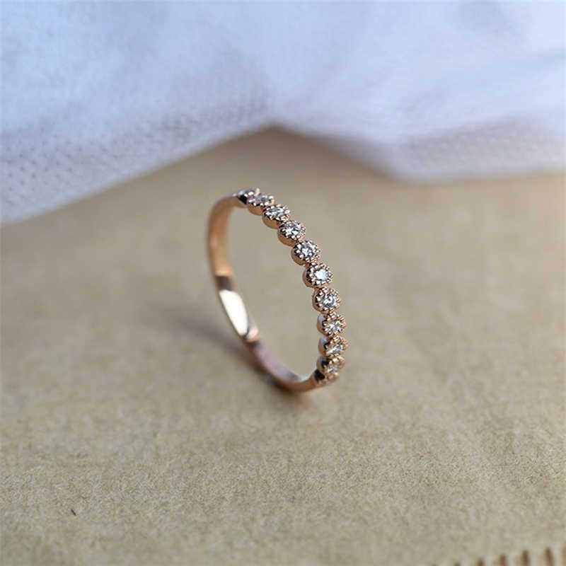 14K Gold 2 Carat VVS1 Diamond Ring for Women Luxury Anillos Gemstone pure natural Bizuteria 14K Gold Round Wedding Diamond Ring