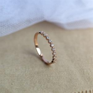 14K Rose Gold 2 Carat FL Diamond Ring for Women Anillos Gemstone pure natural Bizuteria 14K rose Gold jewelry Round Diamond Ring