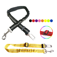 Pet Supplies Dog Leash Car Seat Belt Traction Belts  Nylon Retractable Elastic Reflective Safety Rope Traction Rope Dog heavy duty safty bungee seat belt adjustable nylon rope car adult seatbelt leash padded belts jumping protection outdoor tool page 9