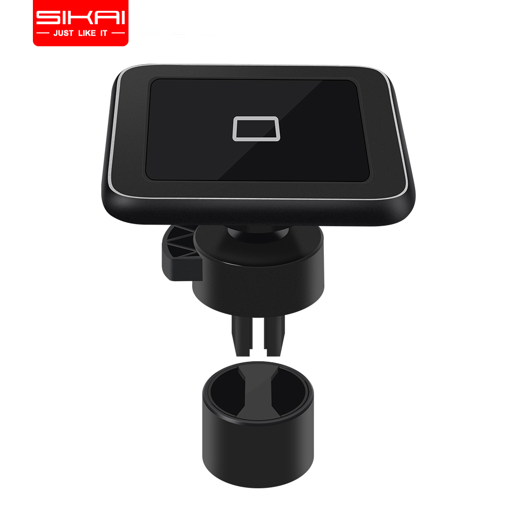 SIKAI 10W Air Vent Magnetic Car Wireless Charger Phone Holder For iPhone XsMax/Xs/Xr/8 360 Degree Rotation Wireless Car Charger image