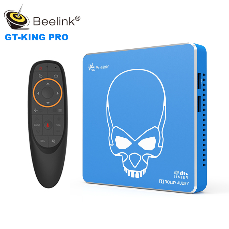 Beelink GT-König Pro Smart TV BOX Voice Control Android 9.0 Amlogic S922X-H 4GB DDR4 + 64GB EMMC dual WiFi 4K 75Hz HD Media Player