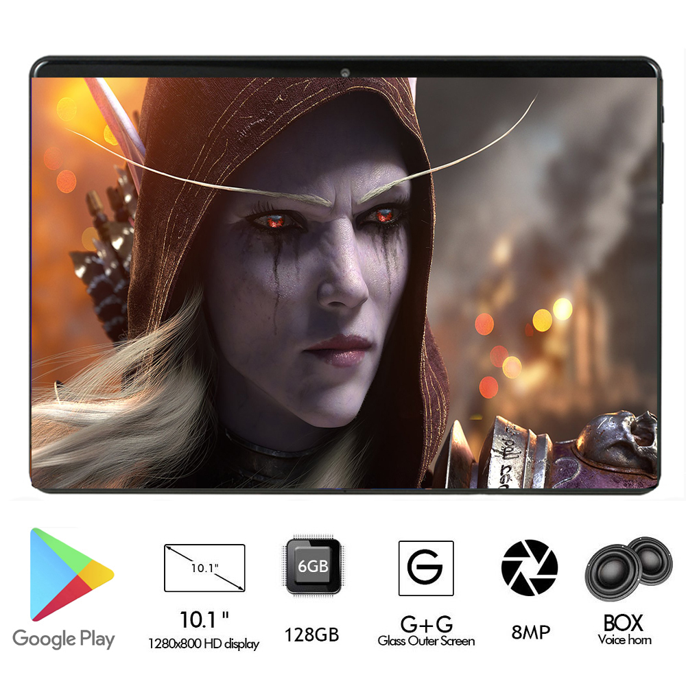 2020 Android 9.0 Newest Google Play Store 10 Inch Octa Core Tablet 10.1 6GB RAM 128GB ROM Dual Cameras Tablet 10 Fast Shipping