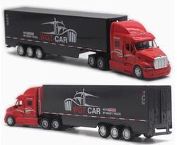 Лидер продаж, модель грузовика-контейнеровза из сплава 1:48, грузовой автомобиль с высокой имитацией, детские развивающие игрушки, бесплатна...