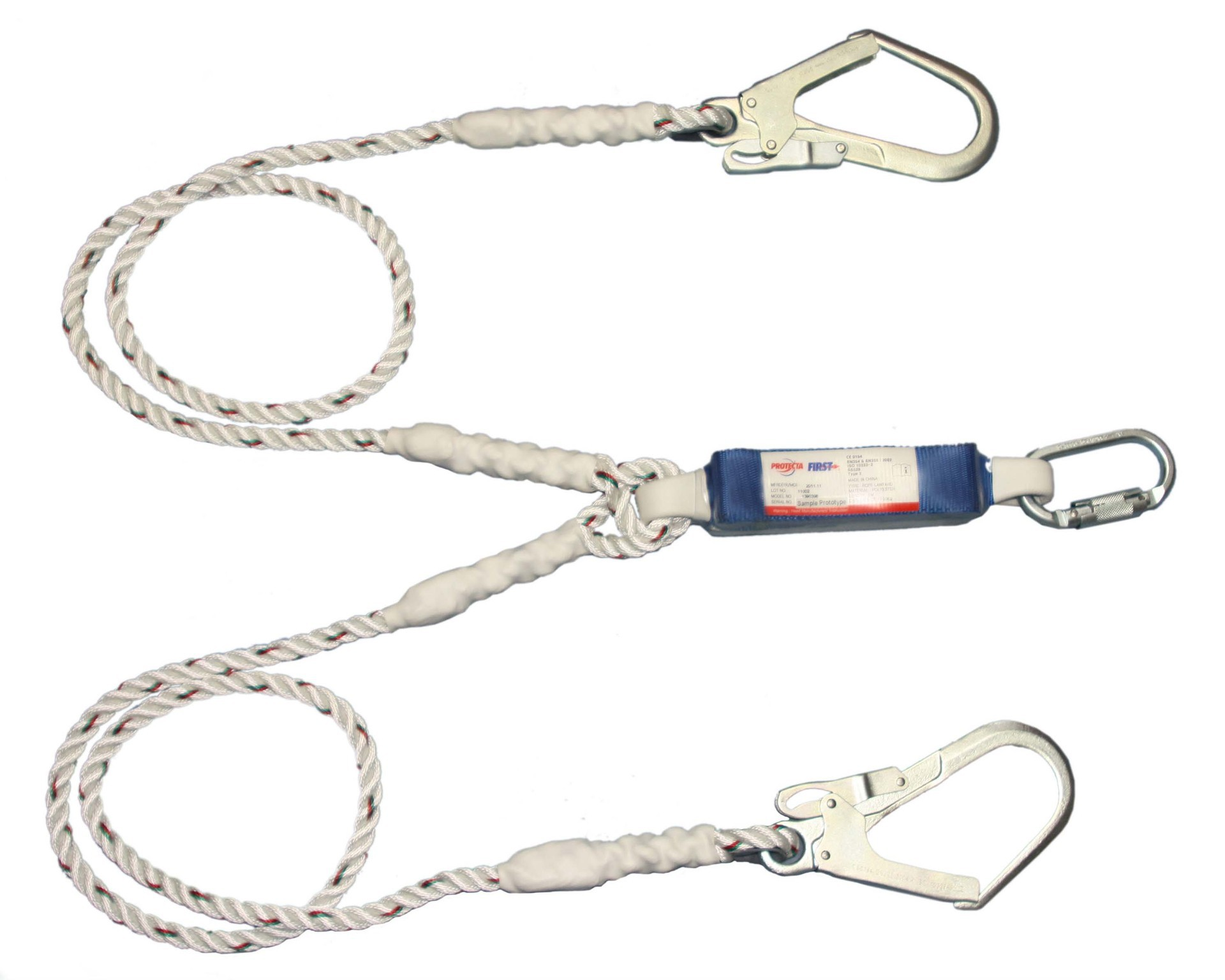 3M Cabot For 1390398 Tate First Double Hook Shock Absorption Connecting Rope Anti-Falling Hanging Safety Lanyard