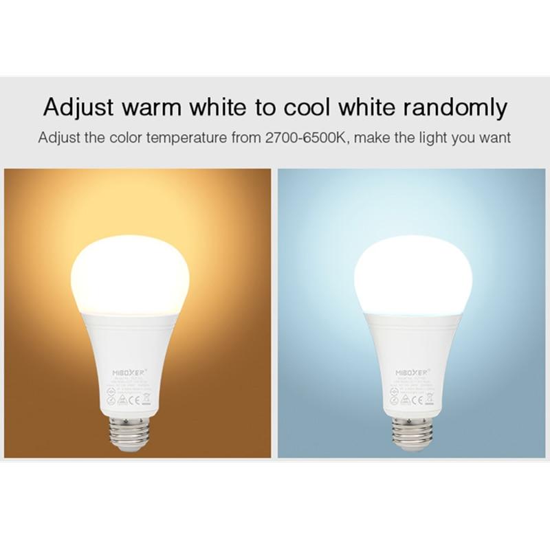 Miboxer FUT105 12W E27 RGB + CCT AC85 ~ 230V 2,4G fernbedienung smartphone APP zu control indoor led-lampen für schlafzimmer wohnzimmer ligh