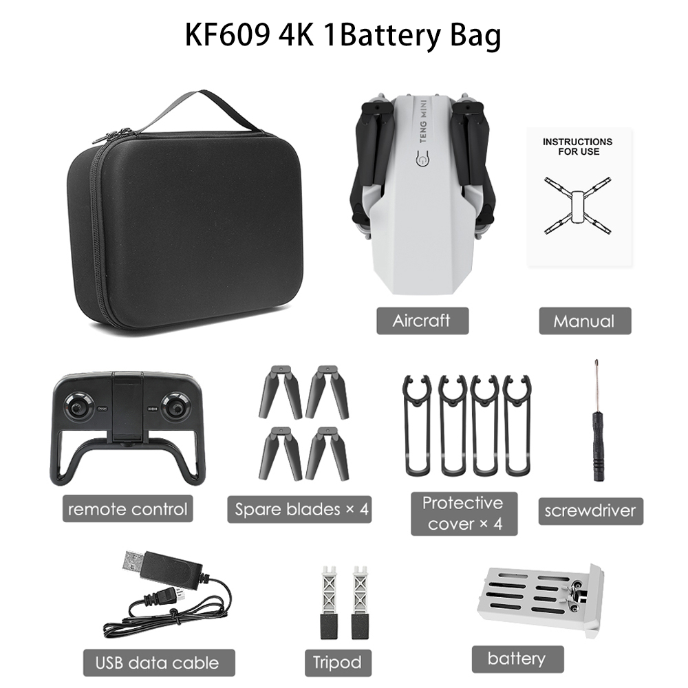 Teeggi KF609 M71 WiFi FPV Drone Mini Foldable RC Drones 720P 4K HD Camera RC Quadcopter Aircraft Quadrocopter Toys Kid E58 HS210