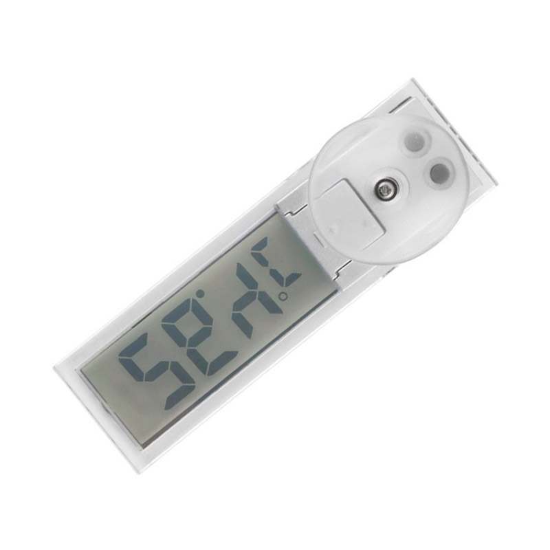 Car Thermometer Osculum Type Celsius Fahrenheit LCD Digital Temperatures Meter Suction Cup For Indoor Outdoor C44