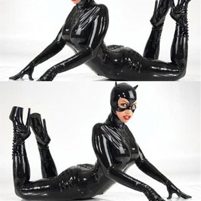 Сексуальный латекс искусственная кожа женщины-кошки
