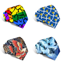 New Design Funny Neckties For men Cartoon Novelty Fashion Ties Fruit Printed Neck ties Wedding Gift Party Accessories 5LD44