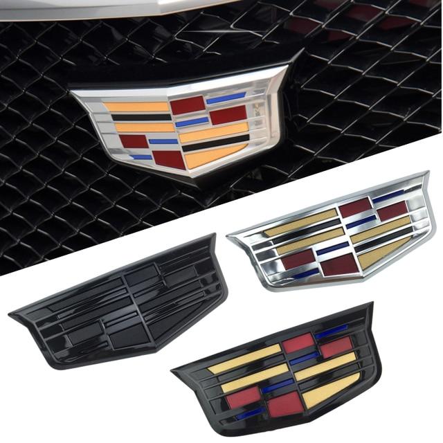 For Cadillac Logo XTS XT5 XT6 ATSL ABS Auto Front Grille Emblem Auto Tailgate Trunk Badge Chrome Exterior Sticker Accessories