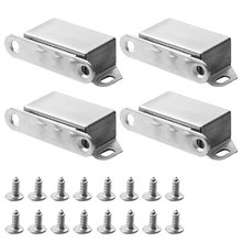 4PCS Cabinet Door Closet Lock Suction High-grade Hardware Accessories Magnetic Catch Furniture Strong Latches Heavy Duty Closer
