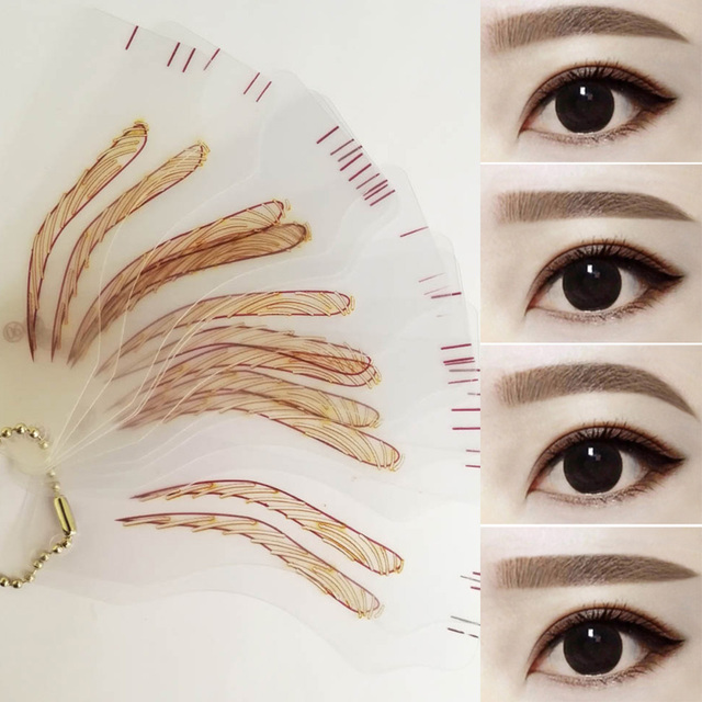 Magic Eyebrow Stencil Makeup Stencil For Eyebrow Drawing Template Make Up Tool Shape For Eyebrows Template 4