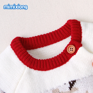 Image 4 - Baby Rompers Christmas Newborn Boys Girls Jumpsuits Costumes Cartoon Knitted Childrens Overalls One Piece Infant Kids Outfits