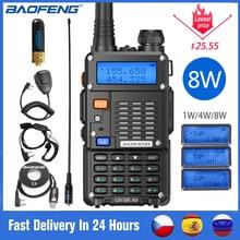 Bộ Đàm Baofeng UV 5R A8 Cao PowerTri Công Suất 8/4/1W 10Km VHF/UHF Tầm Xa với 2100MAh Làm Dày Pin Bộ Đàm
